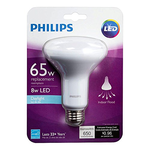 Philips 65W Equivalent Daylight BR30 Dimmable LED 457085 Light Bulb 8W 5000k