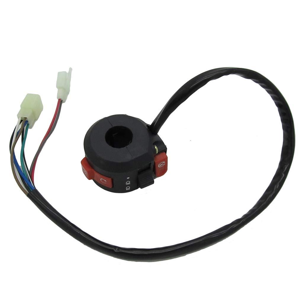 MagiDeal 6+2 Pin Plug Start Kill Switch for 50cc 70cc 110cc 125cc ATV Quad Buggy