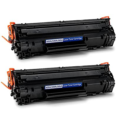 Office World Compatible Toner Cartridge Replacement for HP CE285A 85A CB435A 35A CB436A 36A(2 Black),Work with HP LaserJet Pro P1102w M1212nf M1217nfw P1006 M1522nf