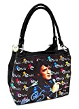 Elvis Presley Medium Two Way Purse, Black Jacket