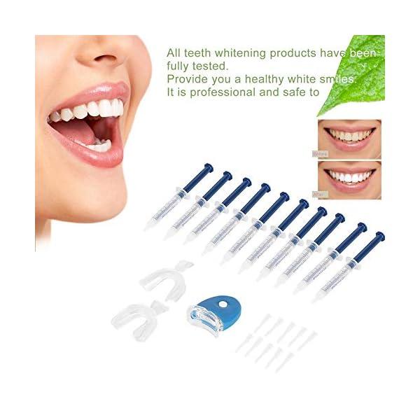 Equipo dental portátil profesional, 10 piezas, dientes blancos, sistema de blanqueamiento dental, blanqueador, kit de… 12