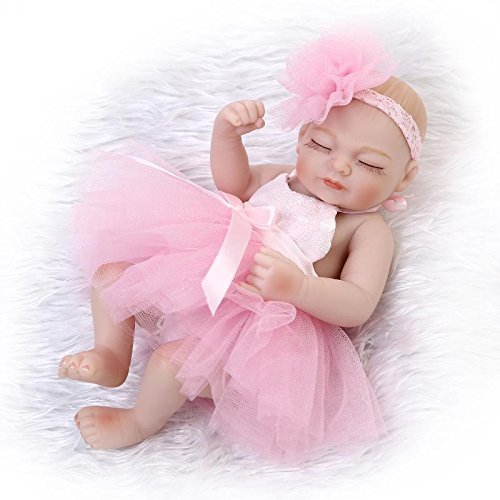 NPK 10inch Real Life Sleeping Newborn Girl Doll Reborn Ba...