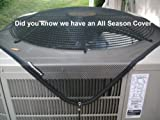 PremierAcCovers - Leaf Guard Summer Open Mesh Air Conditioner Cover - Keeps Out Leaves, Cottonwood and Debris - 28x28 -Black