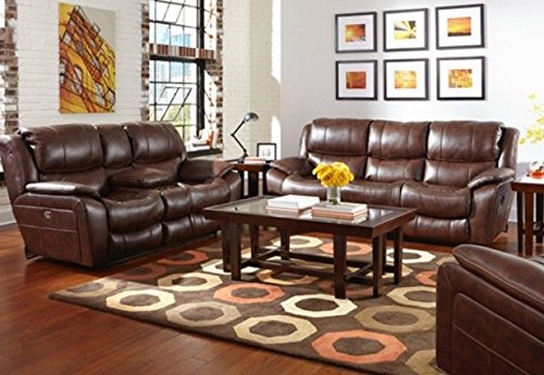 Catnapper reclining comfor-gel Beckett sofa/love/recliner with USB ports (Brown)