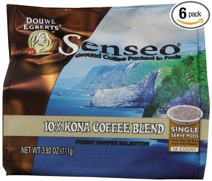 Senseo Kona Coffee Pods (6 Pack - 96 Pods (Fruited Blend)