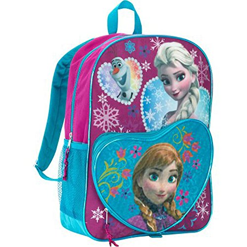 Disney Frozen 16 Deluxe Heart Shaped Anna, Elsa, and Olaf Kids Backpack
