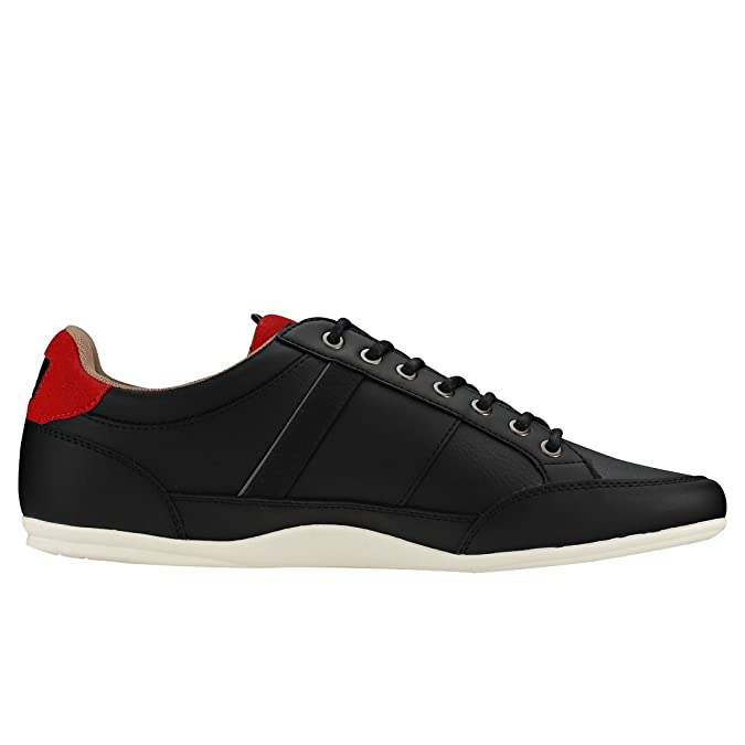 Amazon.com | Lacoste Chaymon 118 2 Mens Trainers Black Red - 7 UK | Fashion Sneakers