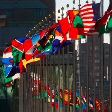 United Nations Flag Set 5X8 Foot Nylon