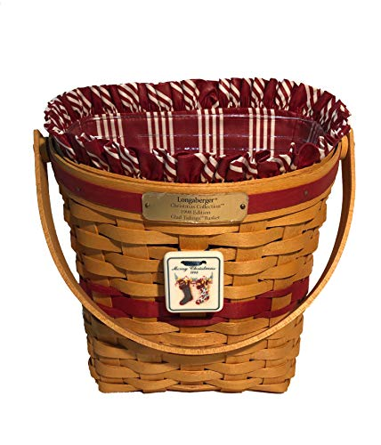 Longaberger 1998 Christmas Glad Tidings Basket Combo (Red, Berry Red Stripe)