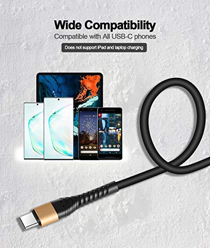 ICSEIO USB Type C Cable 10ft,Extra Long 2Pack 10Foot USB C Cable USB A 2.0 to USB-C Fast Charger Compatible Samsung Galaxy S10 S9 S8 Plus Note 9 8,Moto Z,LG V30 V20 G5,USB C Devices