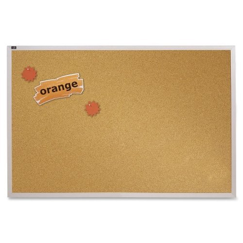 Quartet ECKA406 Natural Cork Bulletin Board 72 x 48 Anodized Aluminum Frame (Boards Quartet Natural Bulletin Cork)