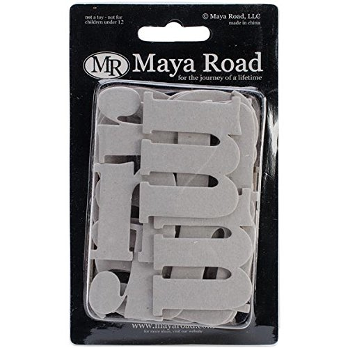 Maya Road Chipboard Set, 1.5 by 3-Inch, Matthew Lowercase Alphabet, ()