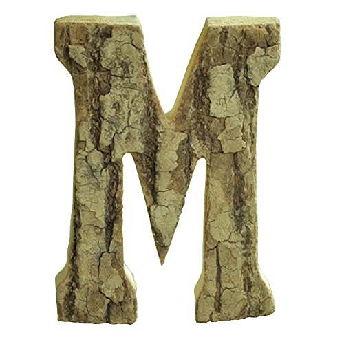 Oak-Pine Vintage Large Decorative Wooden Letters & Number DIY Wall Stickers Hanging Wall Decor Restaurant Decor for Home, Nursery, Shop, Business Signs, Name,Festival Wedding Decoration M