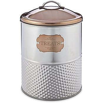 Pet Supplies : Harmony Stainless Steel Treat Jar, Large