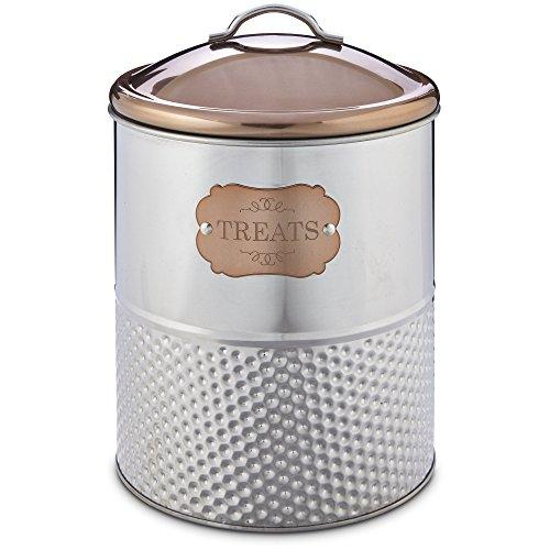 Harmony Stainless Steel Treat Jar, Large, Silver
