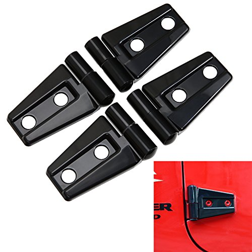Door Hinge Cover for 2007-2017 Jeep JK Wrangler Unlimited 2-Door – 4PCS(Black)