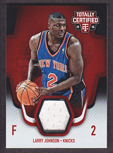 2015-16 Totally Certified Basketball Jersey Red #LJ Larry Johnson 083/199 New York Knicks
