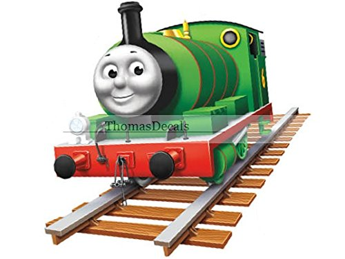 8 INCH Percy No. Number 6 The Small Engine Green Thomas the Tank and Friends Removable Wall Decal Sticker Art Home Decor 8 inches wide by 8 inches (Thomas The Tank Engine Border)