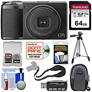 5129bRu5YfL. SS300  - Ricoh GR III APS-C Wi-Fi Digital Camera with 64GB Card + Case + Tripod + Strap + Kit