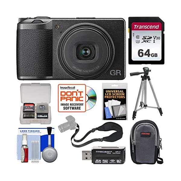 5129bRu5YfL. SS600  - Ricoh GR III APS-C Wi-Fi Digital Camera with 64GB Card + Case + Tripod + Strap + Kit