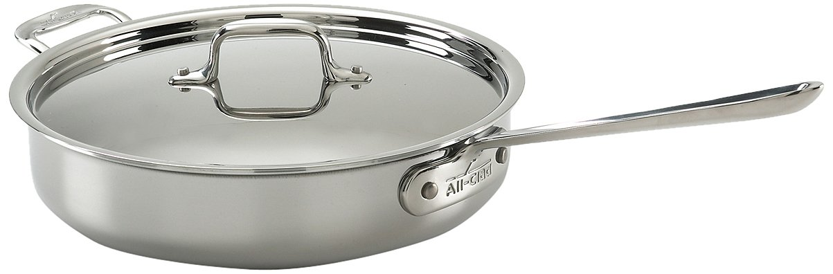 All-Clad Tri-Ply Stainless 3 Qt Saute with Lid