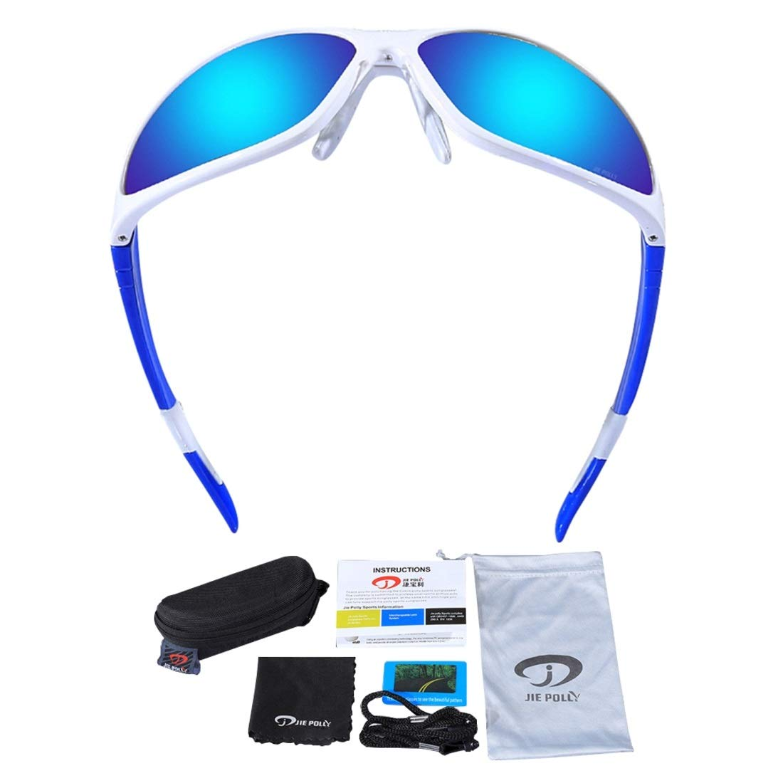 BAOYIT Riding Glasses Polarized Outdoor Sports Mirror HD Sunglasses Beach Climbing Fishing Glass for Women Men (Color : Blue) by BAOYIT