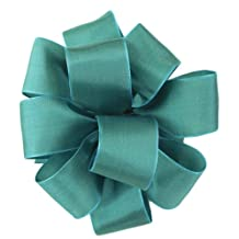 Offray Wired Edge Gelato Craft Ribbon, 1-1/2-Inch Wide by 25-Yard Spool, Turquoise