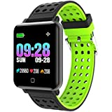 Fitness Tracker, Customized Activity Tracker with Heart Rate Monitor Tracker Bluetooth Smartwatch Blood Pressure Oxygen Rate Loop Waterproof Health Activity Tracker Watch Smart Bracelet(M19)