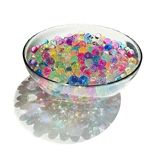Gbell 5500Pcs Water Beads, Magic Jelly Fishbowl Beads,for Crunchy Homemade Slime DIY Crafts,for Kids Sensory Toys and Decoration,Multicolor (multicolor)