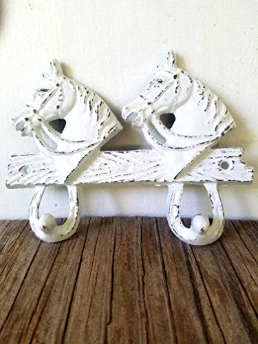 Bright White Horsehead Double hook – Western Home Decor – Rustic cowboy cowgirl – kids room by HOUSEOFBOLD