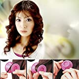 10PCS Silicone Hair Curler; Mosunx Hair Care DIY Roll Hair Style Roller Curling Tool (Pink)