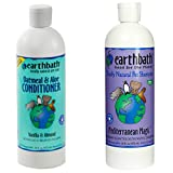Earthbath Mediterranean Magic Rosemary Scented Deodorizing Shampoo for Dogs and Cats, 16 Ounces, and Earthbath Oatmeal and Aloe Conditioner for Dogs and Cats, Vanilla and Almond Scent,16 Ounces