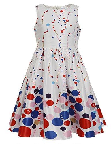 Price comparison product image Balasha Kids Girl's Wear A Line Short Sleeve Vintage Style Peter Pan Collar Dress
