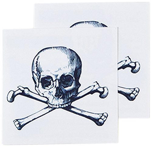 Tattly Temporary Tattoos, Cartolina Skull, 0.1 Ounce