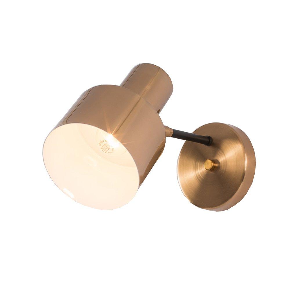 AJZGFWandleuchte Wandlampe des modernen unbedeutenden Wandlampenschlafzimmer-Nachttischlampengang-Korridorhotels Goldene Wandleuchte