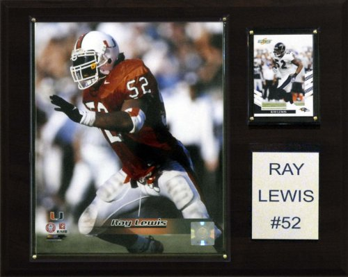 NCAA Football Ray Lewis Miami Hurricanes Player Plaque (Hurricanes Ncaa Miami Player)