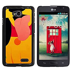 PC/Aluminum Funda Carcasa protectora para LG Optimus L70 / LS620 / D325 / MS323 cute puppy cartoon character yellow / JUSTGO PHONE PROTECTOR