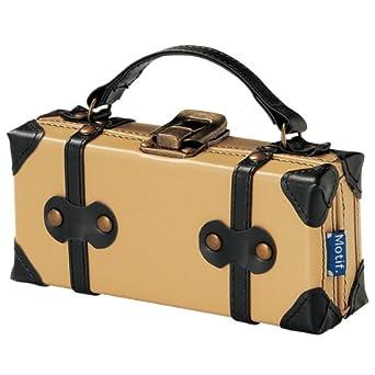 cbfadc0060 Amazon.co.jp: トランク型メガネケース/サングラスケース/ペンケース/フェイクレザー革/ふでばこ/ブランドMotifモチーフ/ベージュ:  服&ファッション小物