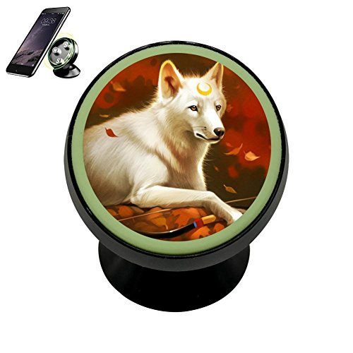 Crescent Mount Board - LLCCAR Vehicle Phone Mount Crescent Wolf Holder Magnetic Universal Cradle Stand Car Dashboard Mount Strong Magnets Cell Phone Kit Women Men