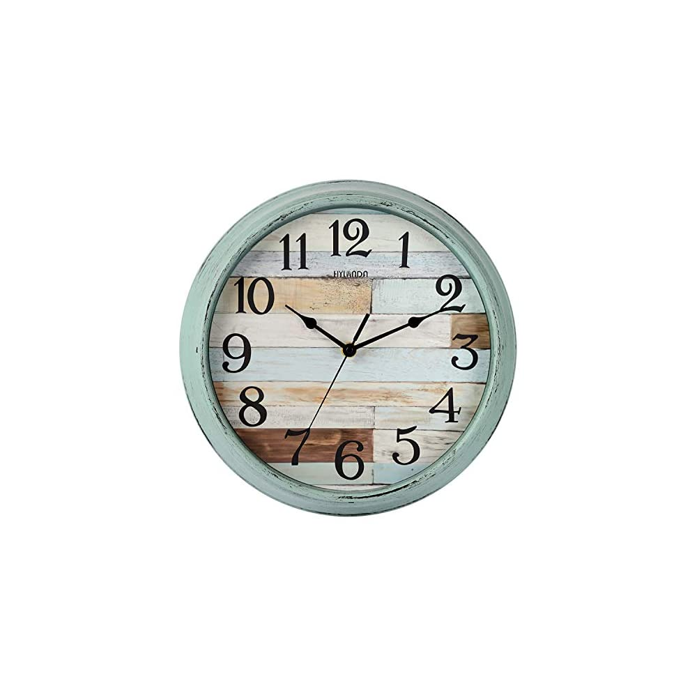 HYLANDA Rustic Wall Clock, Wall Clocks Battery Operated, 12 Inch Country Style Silent Non Ticking Clock, Decorative for…
