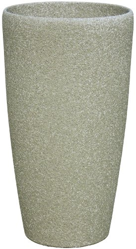 Stone Light SG Series Cast Stone Round Planter, 16 by 30-Inch, Mocha Review