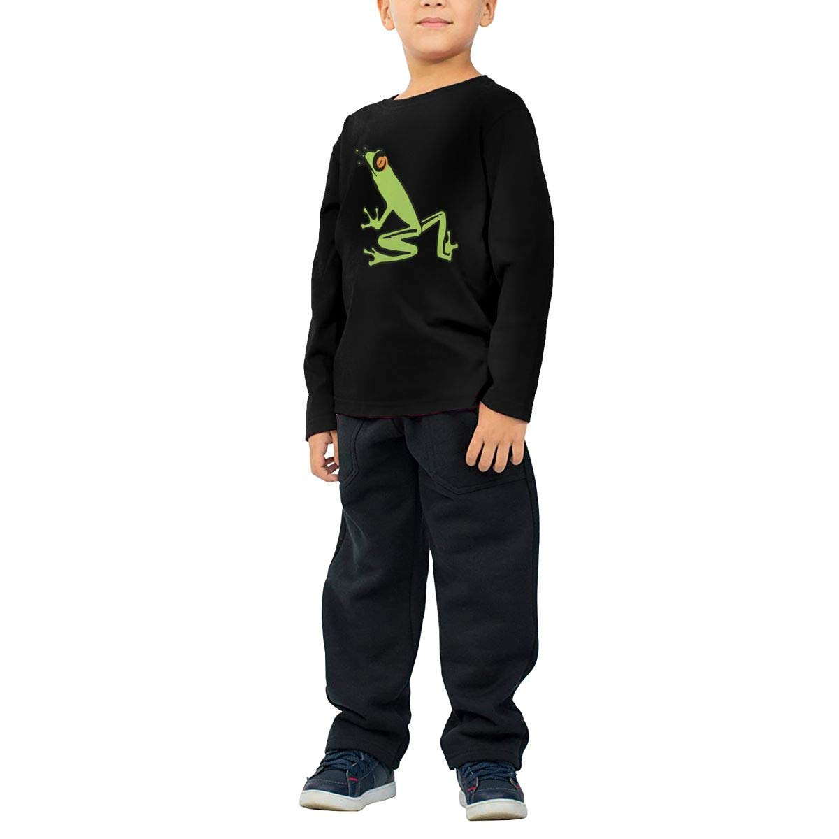 Baby Boys Kids Rainforest Tree Frog ComfortSoft Long Sleeve Tee