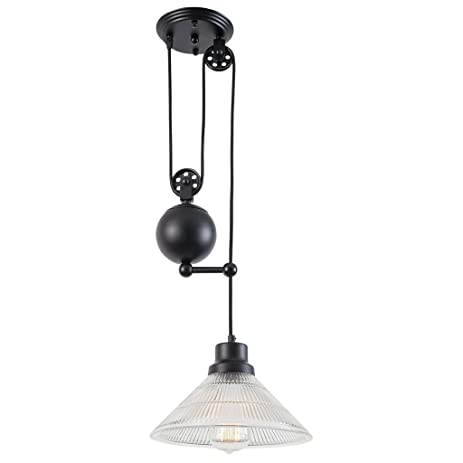 pulley lighting. Light Society Technica Pulley Light, Matte Black With Clear Glass (LS-C121) Lighting T
