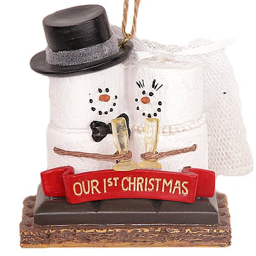 (Midwest-CBK S'Mores 'Our 1st Christmas' Resin Christmas Ornament)