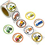 Fancy Land Truck Stickers Perforated 200PCS 1 Roll for Construction Car Birthday Party