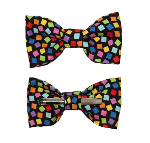Toddler Boy 4T 5T Multi Color Confetti Toss Clip On Cotton Bow Tie by amy2004marie
