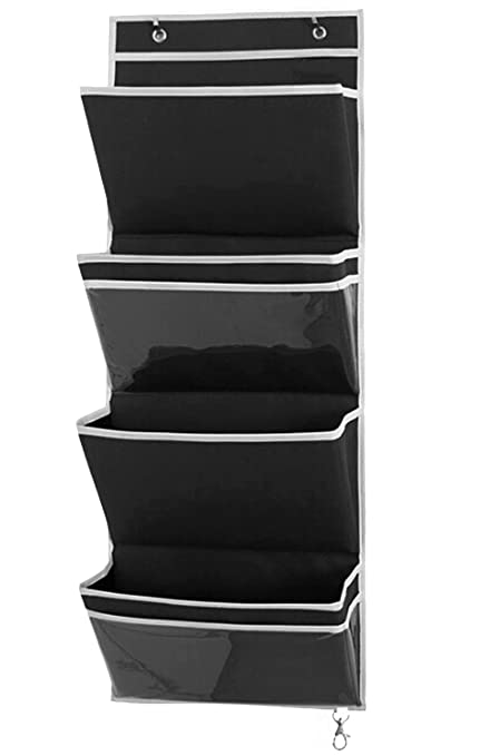 Charmant MISSLO Mail Organizer Office Wall Mount Over The Door Magazine Storage (4  Pockets, Black