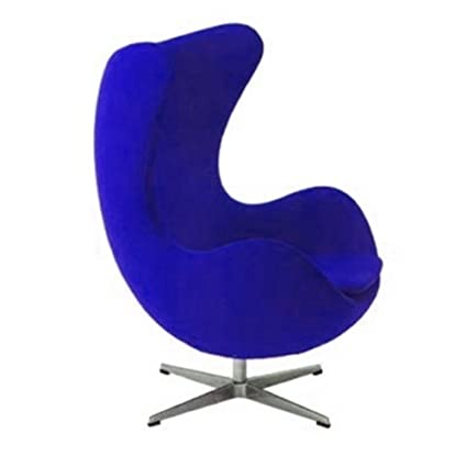 Merveilleux Arne Jacobsen Egg Chair In Wool (Blue)