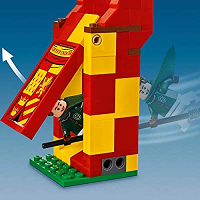 LEGO 75956 Harry Potter Quidditch Match Building Set, Gryffindor Slytherin Ravenclaw and Hufflepuff Towers, Harry Potter Toy Gifts: Toys & Games