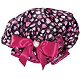 Kingsley Fancy Hearts Shower & Bath Cap